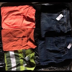 (3) NWT boys husky (sz14) jeans (3) NWOT shirts